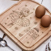 Buy Personalised Breakfast Egg Board - Ballerina From The Crafty Giraffe, the home of unique and affordable gifts for loved ones...