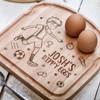 Personalised Breakfast Egg Board - Football - The Crafty Giraffe
