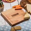 Personalised I'm very fondue of you Cheeseboard with Knives - The Crafty Giraffe
