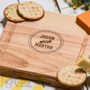 Personalised Couples Names Cheeseboard with Knives - The Crafty Giraffe