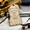 Personalised Christmas Polar Bear Decoration