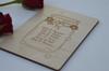 Personalised Jar Wooden Card - The Crafty Giraffe