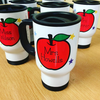 Personalised Teacher Travel Mug - Apple