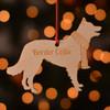 Personalised Border Collie Dog Pet Decoration - The Crafty Giraffe