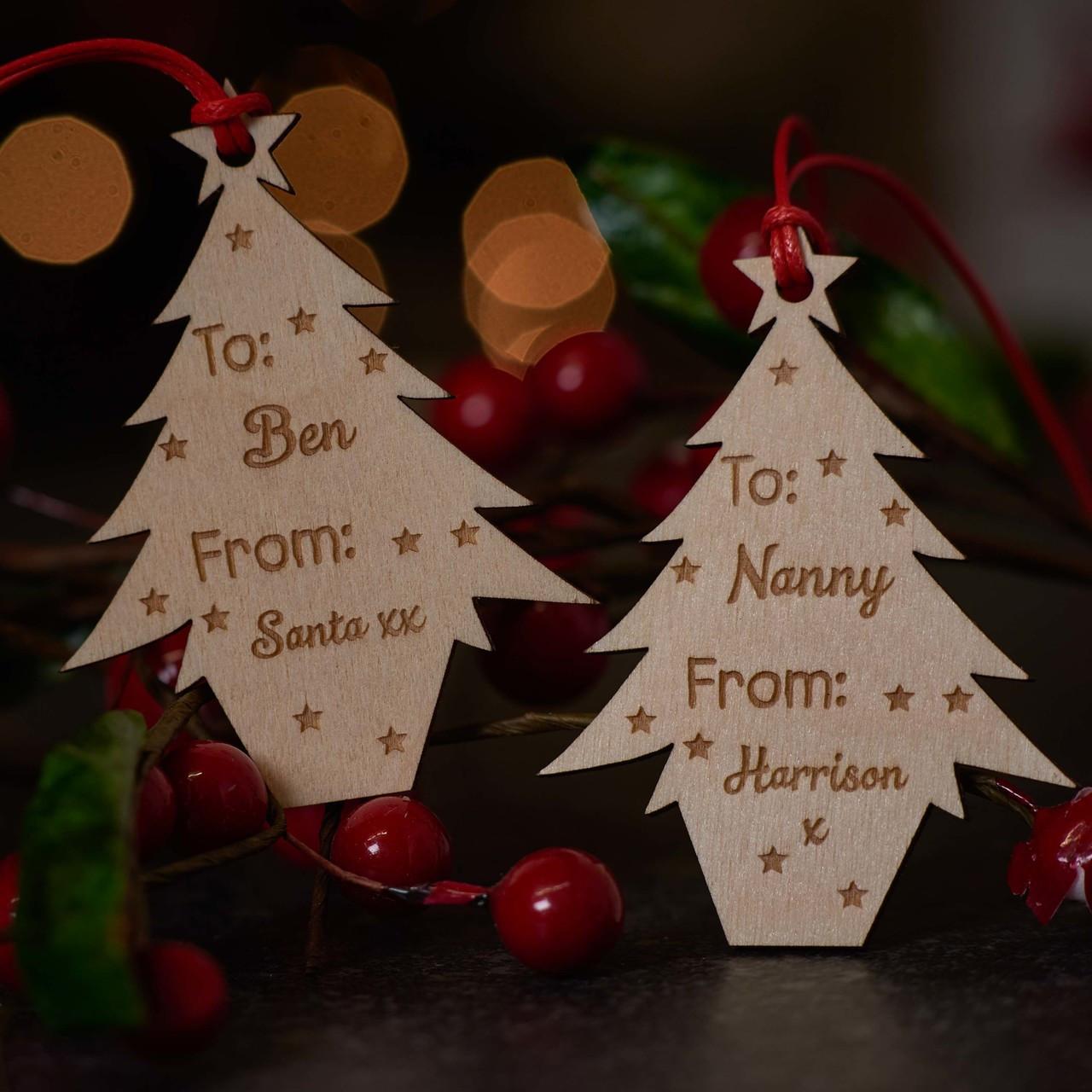 e7f6fa60f3e9f Personalised Christmas Tree Gift Tags