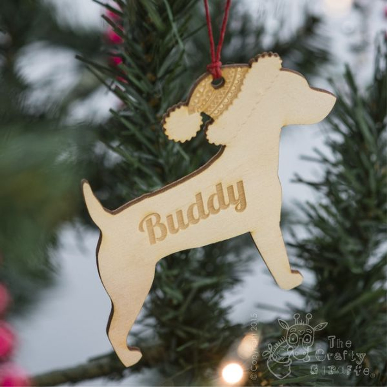 Personalised Dog Pet Decoration The Crafty Giraffe