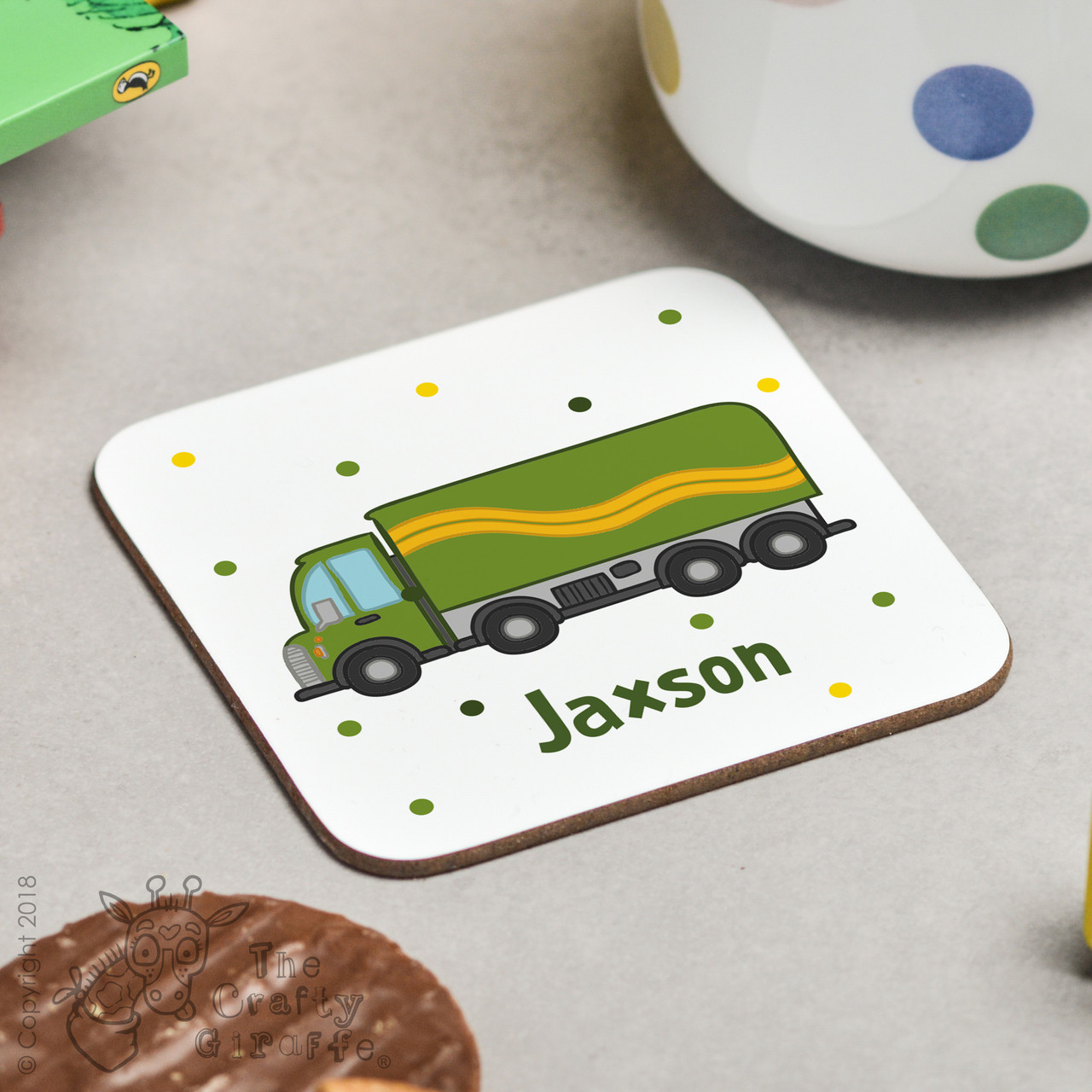 Personalised Lorry Coaster