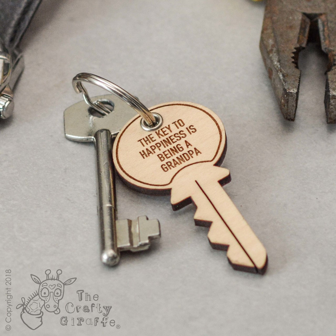 05a713622a Personalised Key Keyring - The Crafty Giraffe