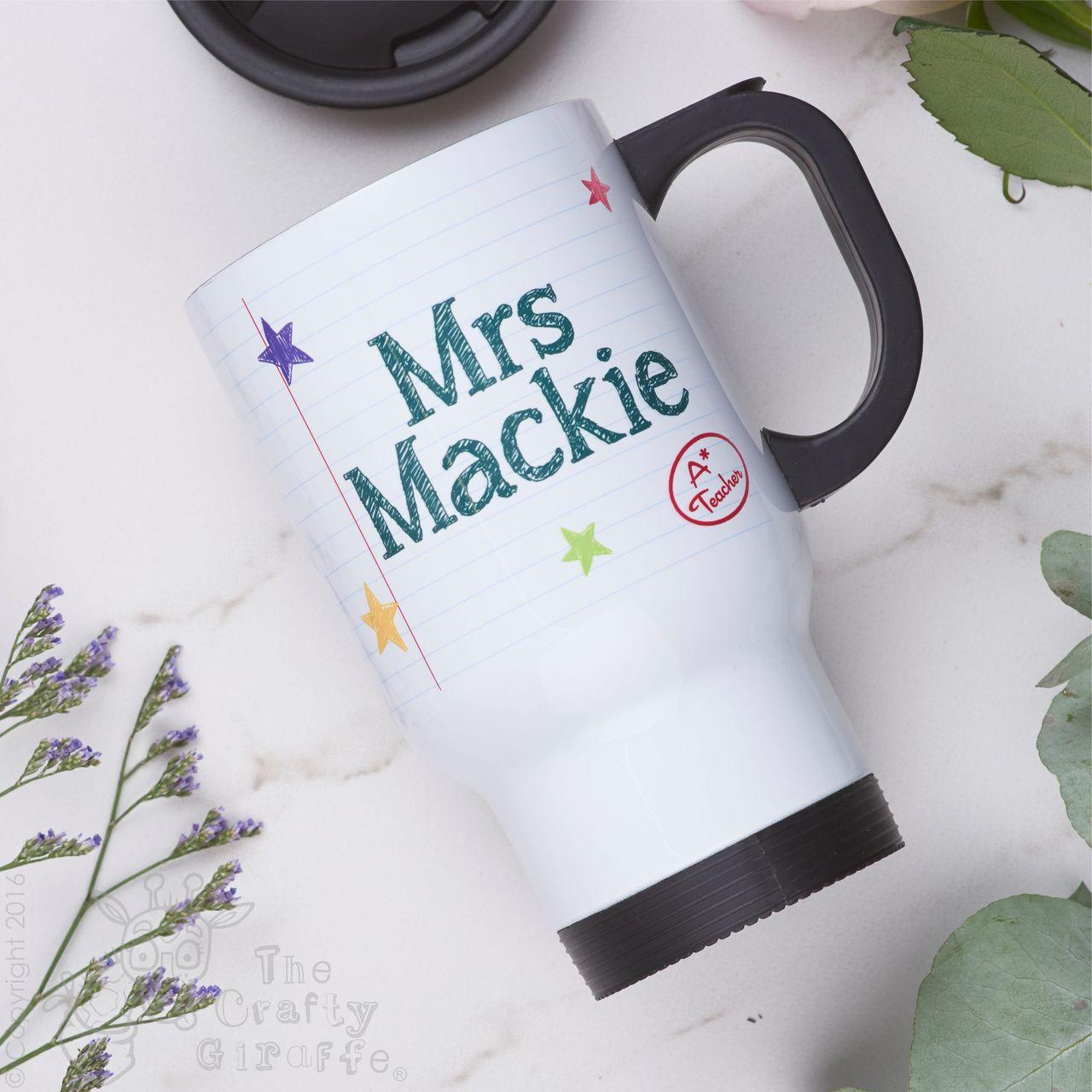 61f36624bd8 Personalised Teacher Travel Mug