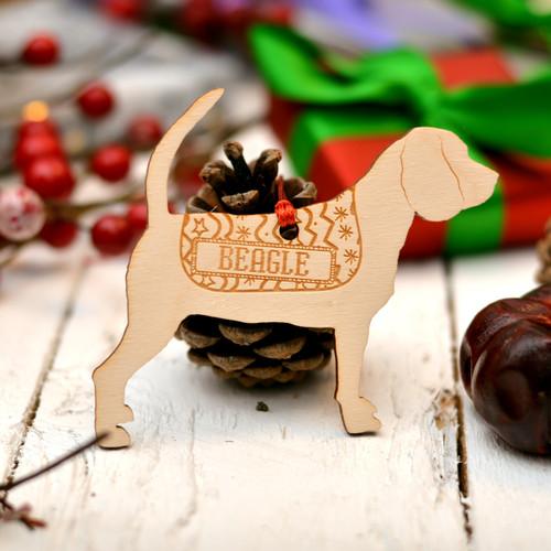Personalised Beagle Decoration