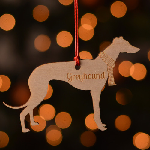 Personalised Greyhound Dog Pet Decoration - The Crafty Giraffe
