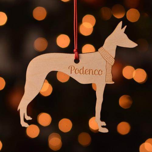 Personalised Podenco Dog Pet Decoration - The Crafty Giraffe