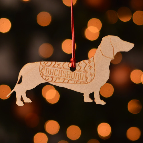 Personalised Dachshund Dog Pet Decoration - The Crafty Giraffe