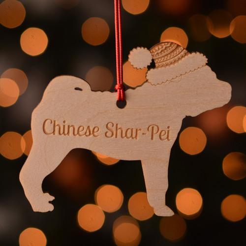 Personalised Chinese Shar Pei Dog Pet Decoration - The Crafty Giraffe