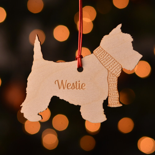 Personalised Westie Dog Pet Decoration - The Crafty Giraffe