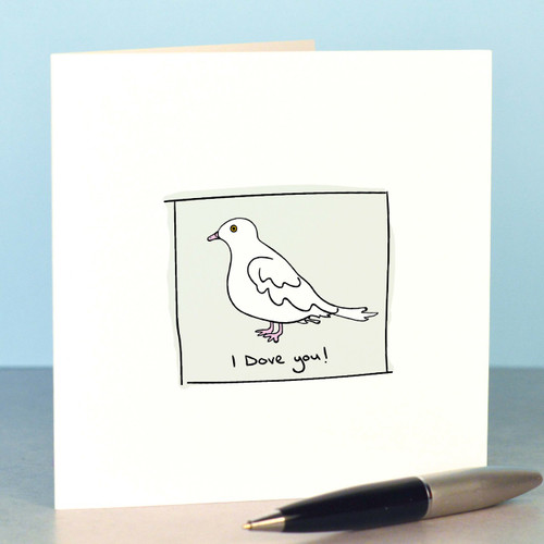 Buy I Dove you Card From The Crafty Giraffe, the home of unique and affordable gifts for loved ones...