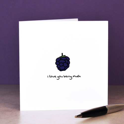Buy I love you berry much Card From The Crafty Giraffe, the home of unique and affordable gifts for loved ones...