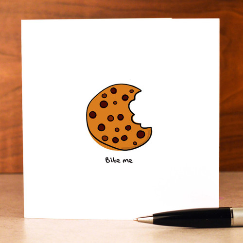 Buy Bite me Card From The Crafty Giraffe, the home of unique and affordable gifts for loved ones...