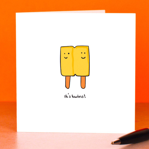 Buy It's twins Card From The Crafty Giraffe, the home of unique and affordable gifts for loved ones...