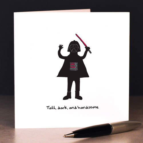 Buy Tall, dark and handsome  Card From The Crafty Giraffe, the home of unique and affordable gifts for loved ones...