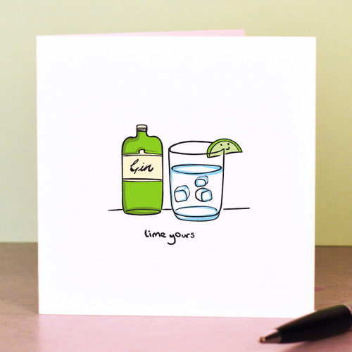 Buy Lime yours Card From The Crafty Giraffe, the home of unique and affordable gifts for loved ones...