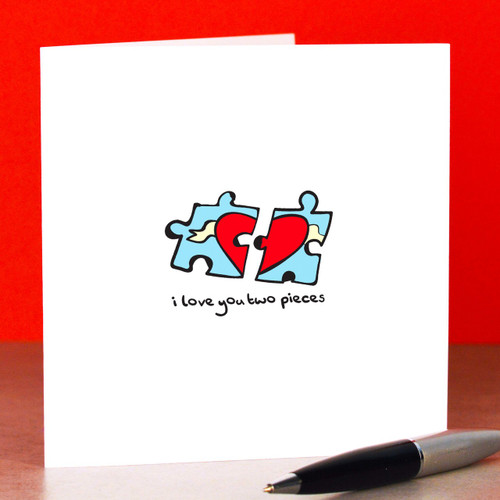 Buy I love you to pieces Card From The Crafty Giraffe, the home of unique and affordable gifts for loved ones...