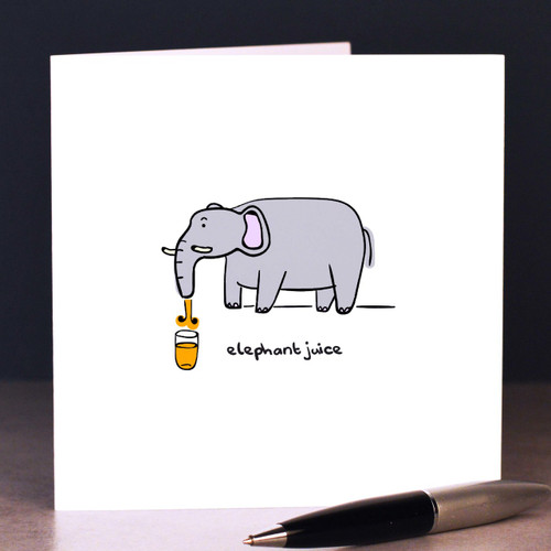 Buy Elephant juice Card From The Crafty Giraffe, the home of unique and affordable gifts for loved ones...