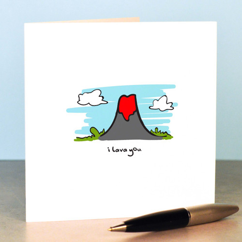 Buy I lava you Card From The Crafty Giraffe, the home of unique and affordable gifts for loved ones...