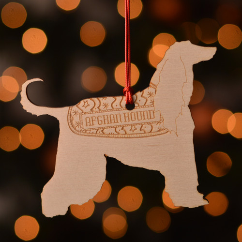 Personalised Afghan Hound Dog Pet Decoration - The Crafty Giraffe