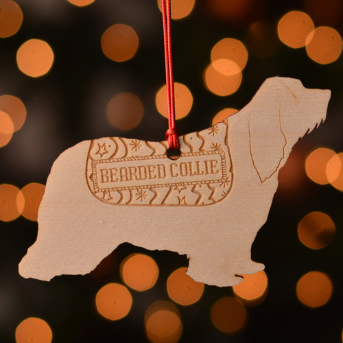 Personalised Bearded Collie Dog Pet Decoration - The Crafty Giraffe