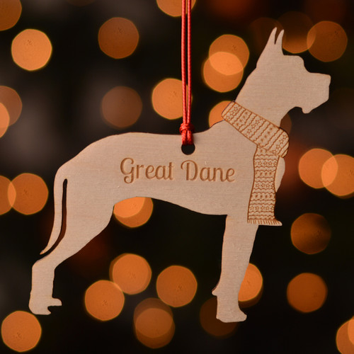 Personalised Great Dane Dog Pet Decoration - The Crafty Giraffe