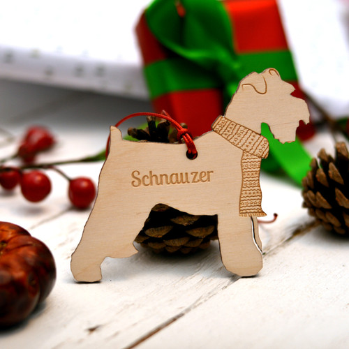 Personalised Schnauzer Dog Pet Decoration - The Crafty Giraffe