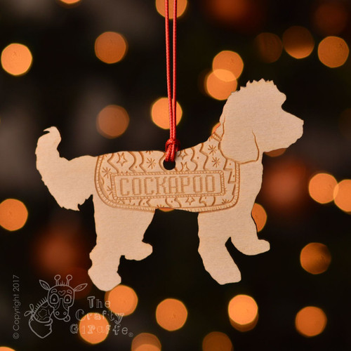 Personalised Cockapoo Dog Decoration