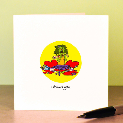 Buy I chews you lady zombie Card From The Crafty Giraffe, the home of unique and affordable gifts for loved ones...