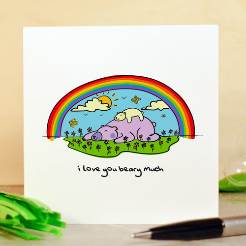Buy I love you beary much Card From The Crafty Giraffe, the home of unique and affordable gifts for loved ones...