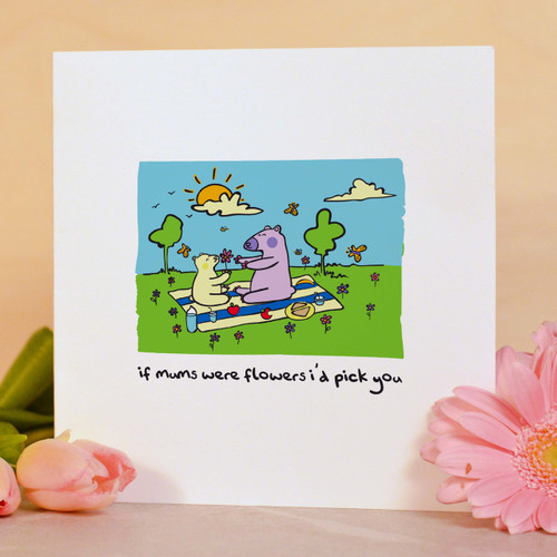 Buy If Mums were flowers I'd pick you Card From The Crafty Giraffe, the home of unique and affordable gifts for loved ones...