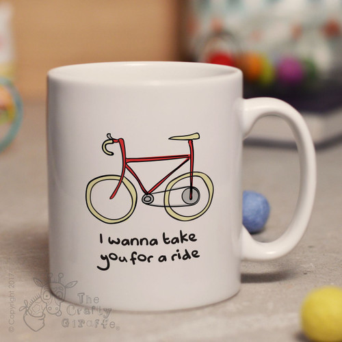 I wanna take you for a ride mug