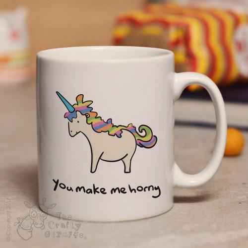 You make me horny mug