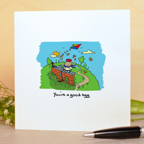 Buy You're a good egg Card From The Crafty Giraffe, the home of unique and affordable gifts for loved ones...