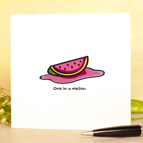 You're one in a melon Card - The Crafty Giraffe