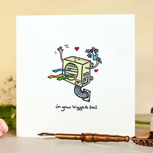 Buy I'm your biggest fan Card From The Crafty Giraffe, the home of unique and affordable gifts for loved ones...
