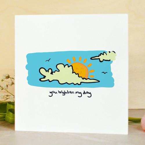 You brighten my day Card - The Crafty Giraffe