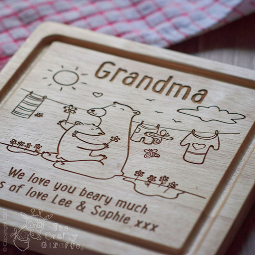 Buy Personalised We love you beary much board From The Crafty Giraffe, the home of unique and affordable gifts for loved ones...