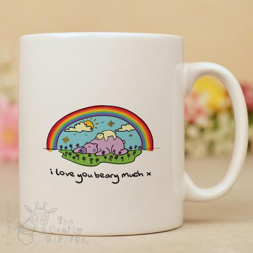 I love you beary much mug