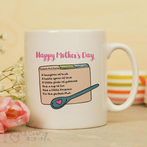 Perfect Mum recipe mug