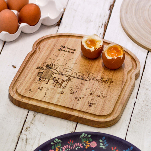 Personalised Breakfast Egg Board - Easter - The Crafty Giraffe