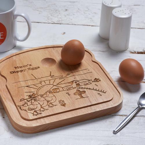 Personalised Breakfast Egg Board - Farm