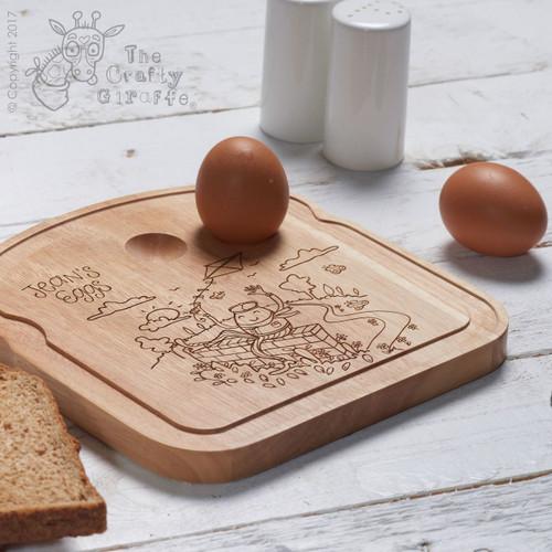 Personalised Breakfast Egg Board - Good Egg