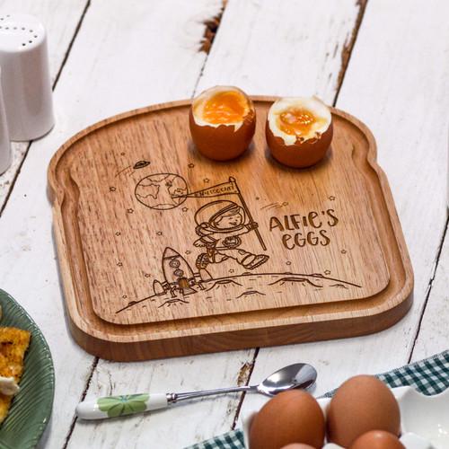 Personalised Breakfast Egg Board - Space - The Crafty Giraffe