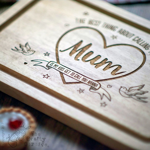 Buy Personalised The Best thing about calling you Mum Board From The Crafty Giraffe, the home of unique and affordable gifts for loved ones...
